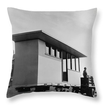 Portable Housing, C1938 Throw Pillow by Granger
