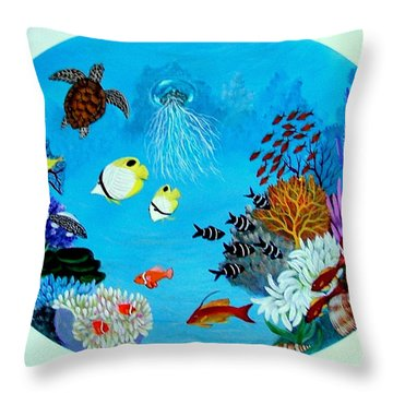 Porthole Throw Pillow