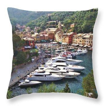 Portofino Throw Pillow by Marilyn Dunlap