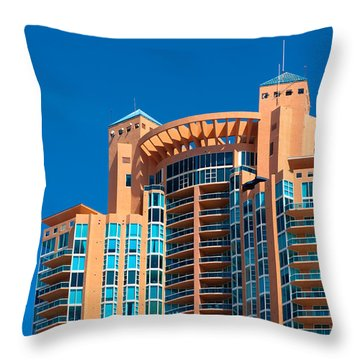Portofino Tower At Miami Beach Throw Pillow