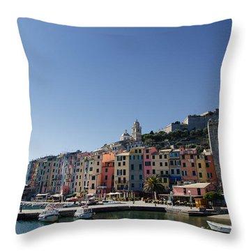 Portovenere Throw Pillow by Mats Silvan
