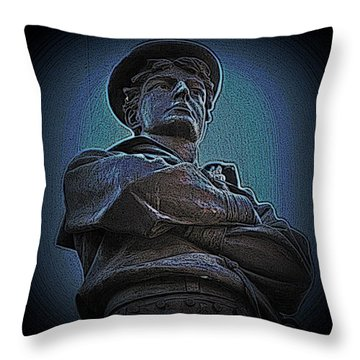 Portrait 33 American Civil War Throw Pillow by David Dehner