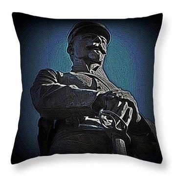Portrait 36 American Civil War Throw Pillow by David Dehner