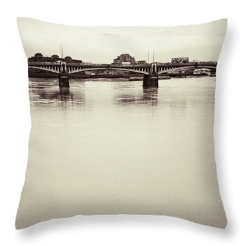 Throw Pillow featuring the photograph Portrait Of A London Bridge by Lenny Carter