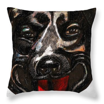 Portrait Of A Pooch Throw Pillow by Al Goldfarb
