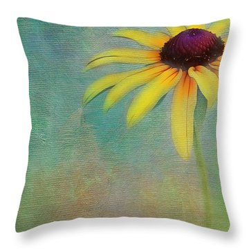 Portrait Of A Sunflower Throw Pillow by Judi Bagwell