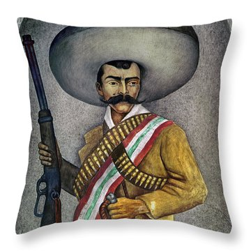 Portrait Of A Zapatista Throw Pillow by Granger