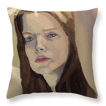 Portrait Of Ashley Throw Pillow