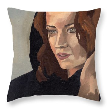 Portrait Of Becca 2 Throw Pillow