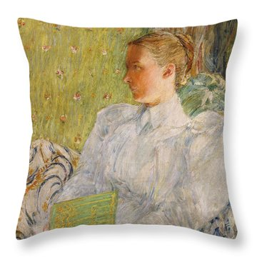 Portrait Of Edith Blaney Throw Pillow