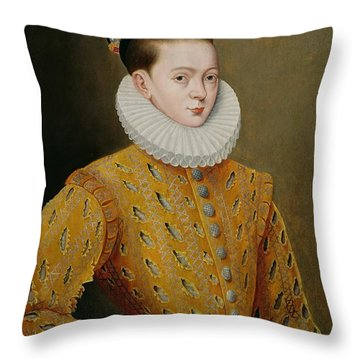 Portrait Of James I Of England And James Vi Of Scotland  Throw Pillow by Adrian Vanson