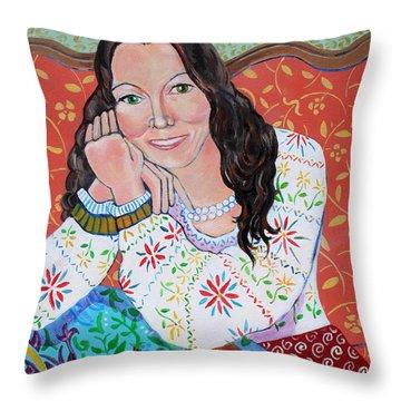 Portrait Of Kim Throw Pillow by John Keaton