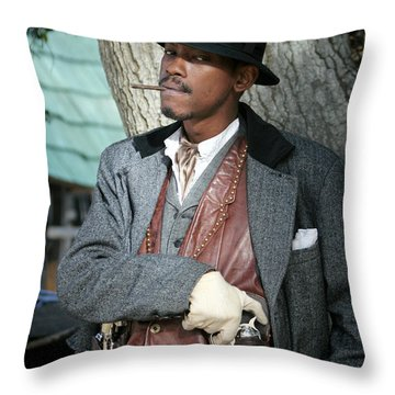 Portrait Of Kurupt Throw Pillow by Nina Prommer