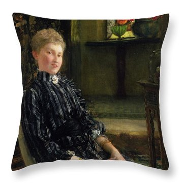 Portrait Of Mrs Ralph Sneyd Throw Pillow by Sir Lawrence Alma-Tadema