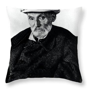 Portrait Of Renoir Throw Pillow by Photo Researchers