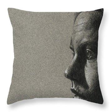 Portrait Of S Throw Pillow by David Kleinsasser