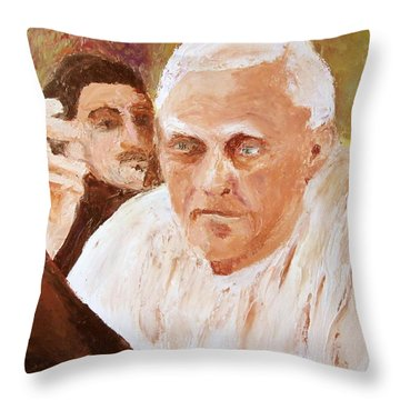 Portugese Stories Throw Pillow by Keith Thue