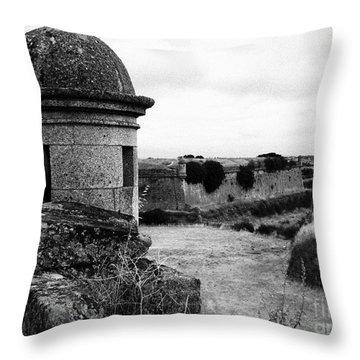 Portuguese Fortress Throw Pillow by Gaspar Avila