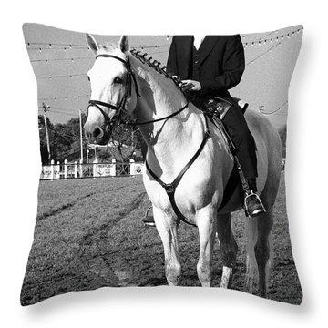 Portuguese Horse Rider Throw Pillow by Gaspar Avila