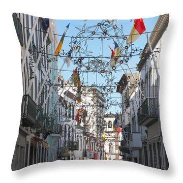 Portuguese Street Throw Pillow by Gaspar Avila