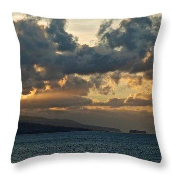 Portuguese Sunrise Throw Pillow by Eric Tressler