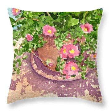 Portulacas Throw Pillow
