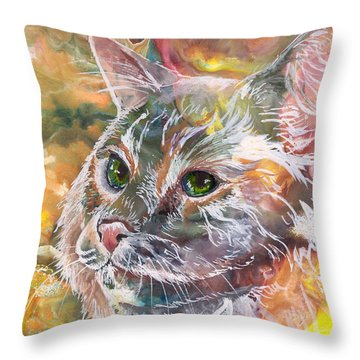 Posing Throw Pillow by Sherry Shipley