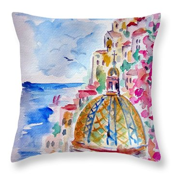 Positano Bella Throw Pillow