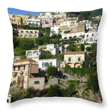 Throw Pillow featuring the photograph Positano by Nora Boghossian