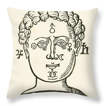 Decorative Pillow Placement : Position Of The Planets In The Human Photograph by Science Source