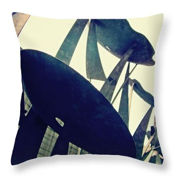 Post Alley Poppies Throw Pillow by Leanna Lomanski
