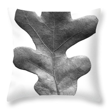 Post Oak Leaf Throw Pillow
