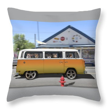 Postcards From Otis - Road Trip  Throw Pillow by Mike McGlothlen
