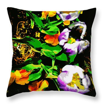 Poster Girls Throw Pillow by Diane montana Jansson