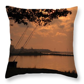 Pot Nets Throw Pillow