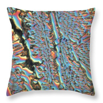 Potassium Chloride Throw Pillow by Michael W. Davidson