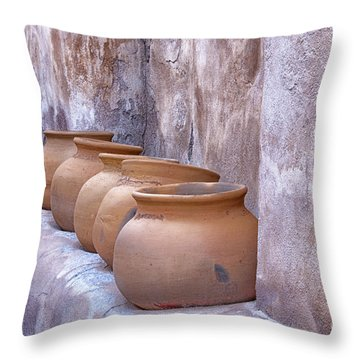 Pottery Of The Past Throw Pillow by Sandra Bronstein