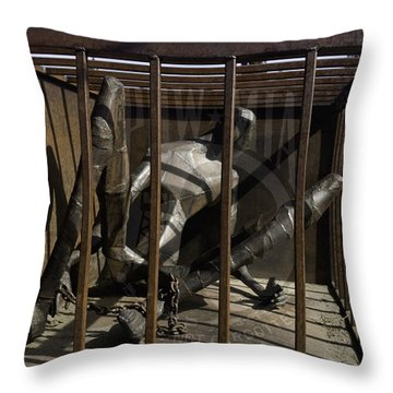 Throw Pillow featuring the photograph Pow-mia  by Betty Depee