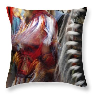 Throw Pillow featuring the photograph Pow Wow Dancer by Vivian Christopher