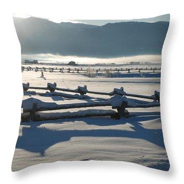 Powder Day Throw Pillow by Eric Tressler