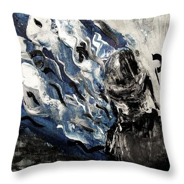 Power Of Prayer With Hasid Reading And Hebrew Letters Rising In A Spiritual Swirl Up To Heaven Throw Pillow by M Zimmerman