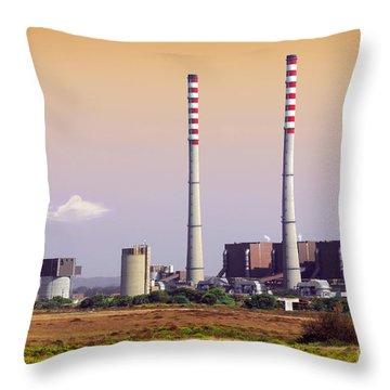 Power Plant Throw Pillow by Carlos Caetano