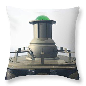 Throw Pillow featuring the digital art Power Platform by Phil Perkins
