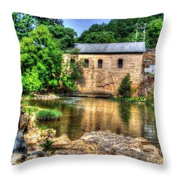 Powerhouse Throw Pillow by Dan Stone