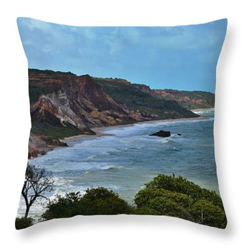 Praia De Tambaba - Paraiba Throw Pillow