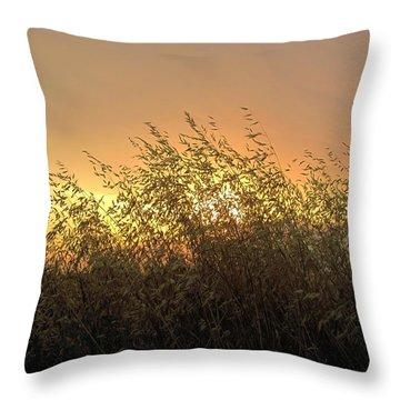 Prairie Dusk Throw Pillow by Leanna Lomanski
