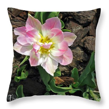 Praise And Celebrate Life Throw Pillow by Ausra Huntington nee Paulauskaite