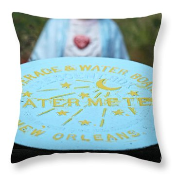 Throw Pillow featuring the photograph Pray No More Floods In New Orleans by Luana K Perez