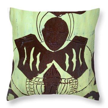 Prayer Throw Pillow by Gloria Ssali