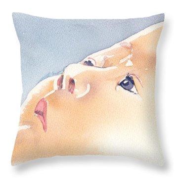 Throw Pillow featuring the painting Precious Calm by Lynn Babineau